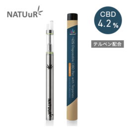 NATUuR 420 Disposable CBD PEN with Terpenes – Tangie OG (タンジーオージー) テルペン配合 CBDペン