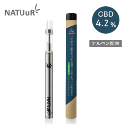 NATUuR 420 Disposable CBD PEN with Terpenes – Mary Jane (メリージェーン) テルペン配合 CBDペン
